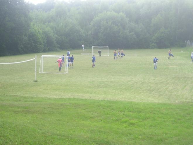 rozcvička pred futbalovým zápasom